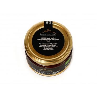 Crema di nocciole fondente 260 gr